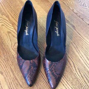 Free People Snakeskin heels